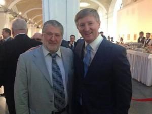 kolomoyskiy e akhmetov a inaugurazione poroshenko