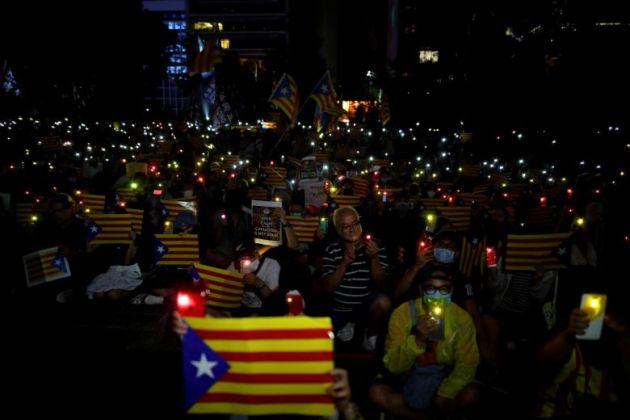 Hong Kong in solidarieta a Catalonia